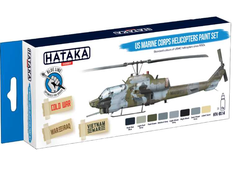Hataka Acrylic Paint Set - US Marine Corps Helicopters (for hand brushing) BS14