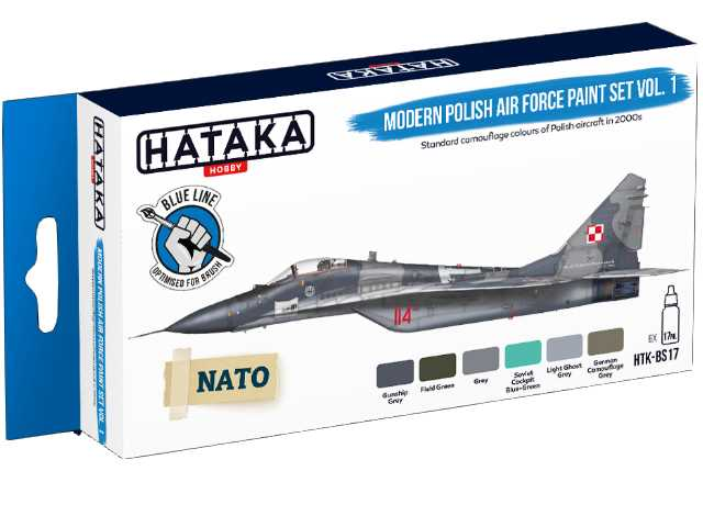 Hataka 6 x 17ml BS17 Acrylic Paint Set -Modern Polish Air Force vol. 1 (for hand brushing)
