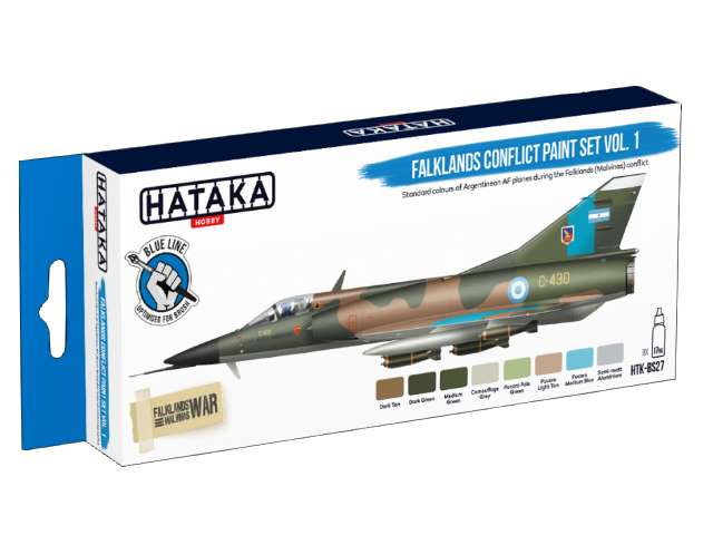 Hataka Acrylic Paint Set - Falklands Confilct Set 1 (for hand brushing) BS27