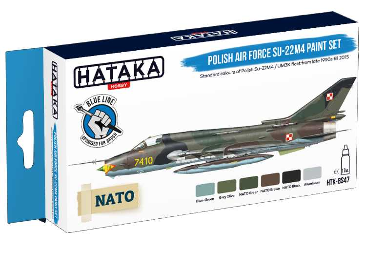Hataka Acrylic Paint Set - Polish Air Force Su-22M4 (for hand brushing) BS47