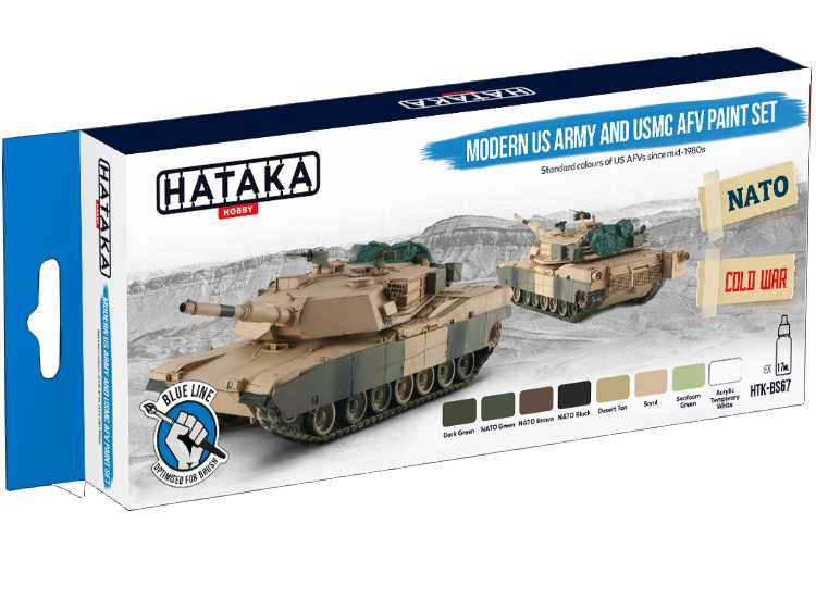 Hataka Acrylic Paint Set - Modern US Army and USMC AFV (for hand brushing) BS67