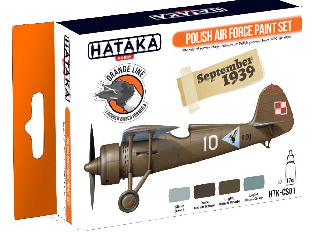 Hataka 4 x 17ml CS01 Lacquer Paint Set - Polish Air Force