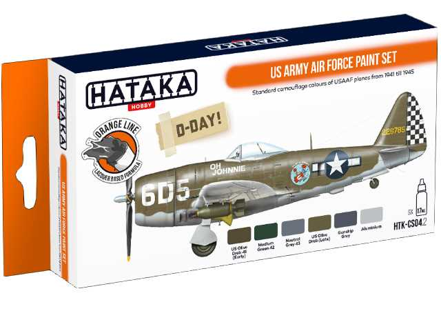 Hataka 6 x 17ml CS04-2 Laquer Paint Set - US Army Air Force