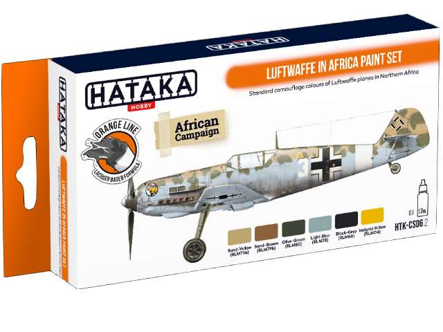 Lacquer Paint Set - Luftwaffe in Africa