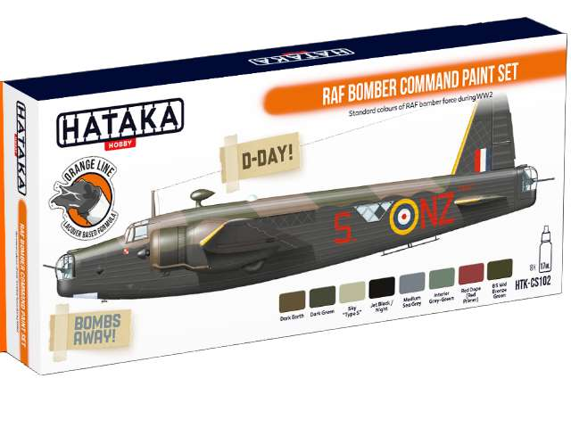 Hataka Lacquer Paint Set - RAF Bomber Command CS102