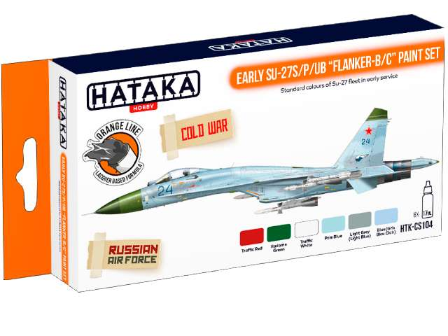 Lacquer Paint Set - Early Su-27S/P/UB Flanker-B/C