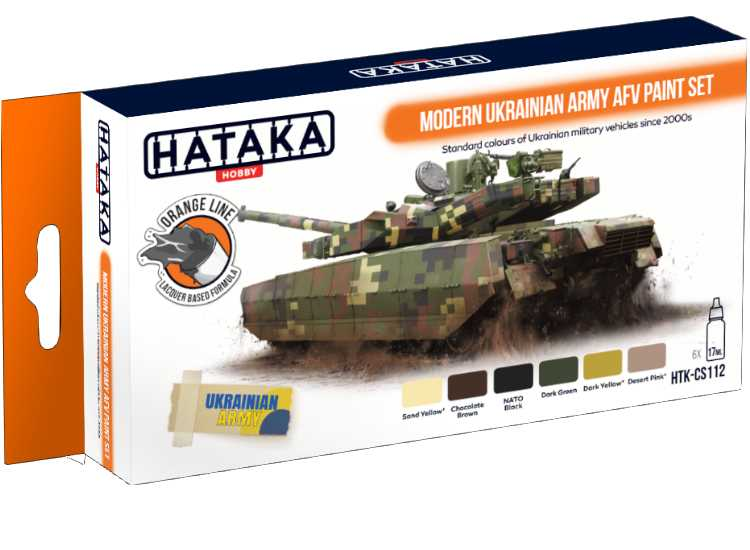 Hataka Lacquer Paint Set - Modern Ukrainian Army AFV CS112