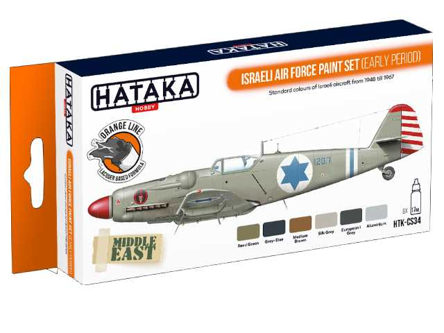 Hataka 6 x 17ml CS34 Laquer Paint Set - Israeli Air Force early period
