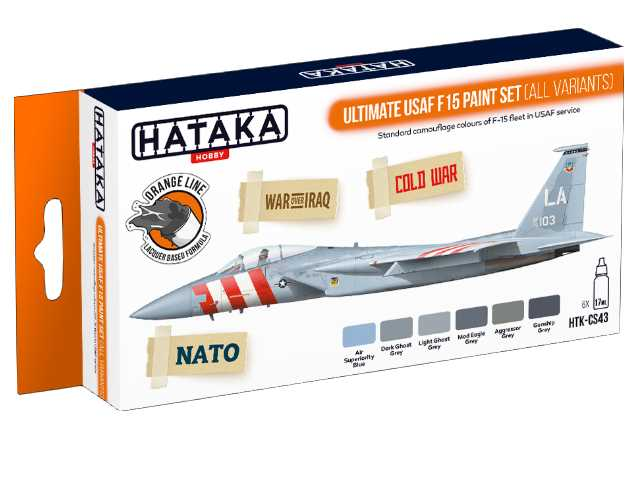 Hataka 6 x 17ml CS43 Laquer Paint Set - Ultimate USAF F15 all variants