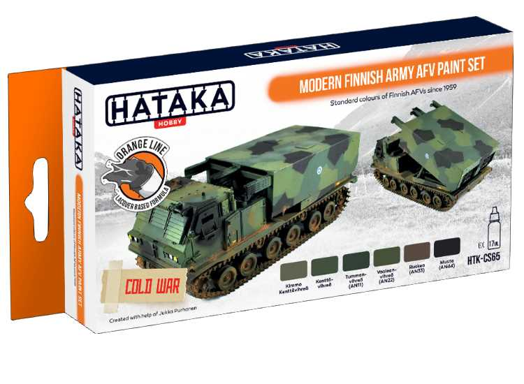 Hataka Lacquer Paint Set - Modern Finnish Army AFV CS65