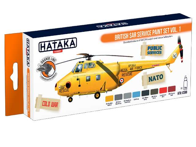 Hataka Lacquer Paint Set -  British SAR Service vol. 1