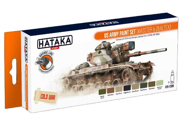 Hataka 8 x 17ml CS99 Laquer Paint Set - US Army (MASSTER & DUALTEX)