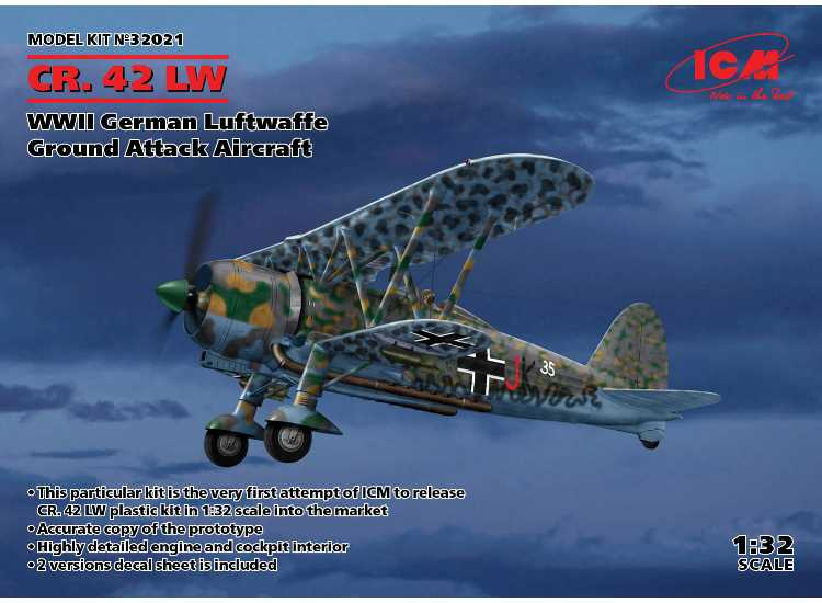 ICM CR. 42 LW , WWII German Luftwaffe 32021