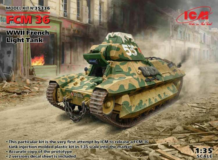 ICM FCM36 WWII French Light Tank 35336