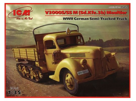 V3000S/SS M (Sd.Kfz.3b) Maultier, WWII German Semi-Tracked Truck