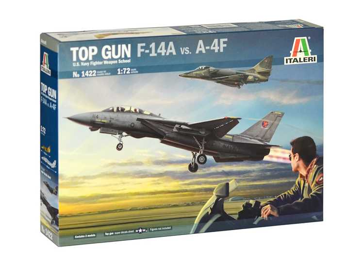Italeri U.S Navy School Top Gun F14A vs A-4F