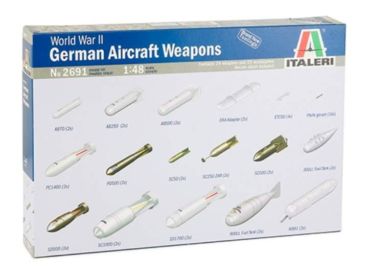 Italeri WWII GERMAN AIRCRAFT WEAPONS