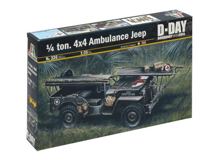 Italeri 1/4 Ton 4x4 Ambulance Jeep D-Day 326