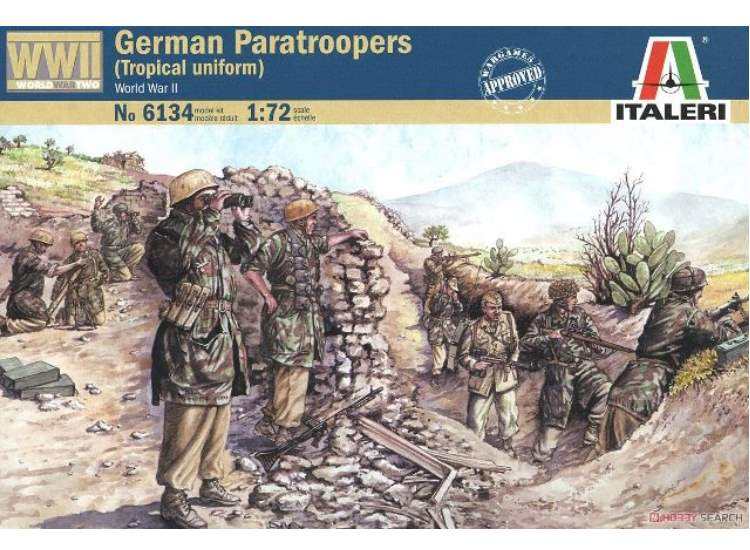 Italeri WWII German Paratroopers (Tropical Uniform)