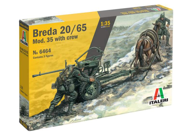 Italeri Horse Drawn Breda 20 6464