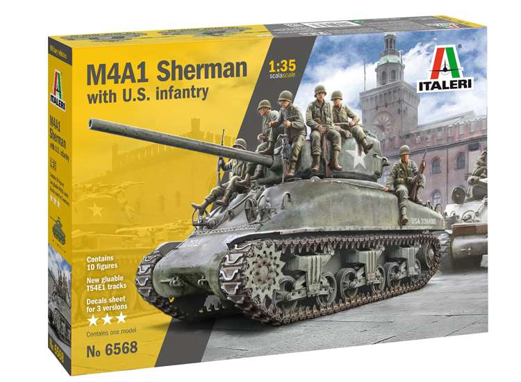 Italeri M4A1 Sherman with U.S Infantry 6568
