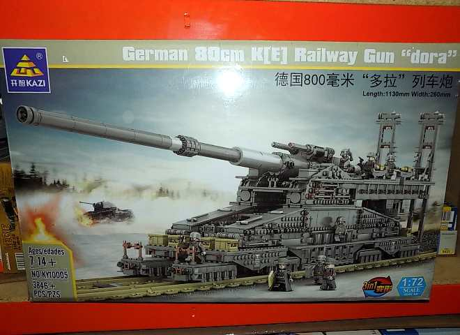 German 80cm Railway Gun Dora 3846pcs Compatible Blocks