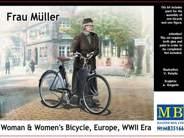 Frau Muller - Woman and Woman's Bicycle WWII Europe