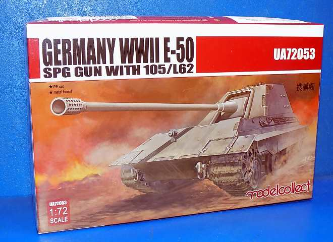 Model Collect 1/72 72053 E-50 SPG GUN with 105/L62 German WWII