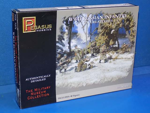 Pegasus 1/72 7271 WWII Russian Infantry in Greatcoats Date: 00's