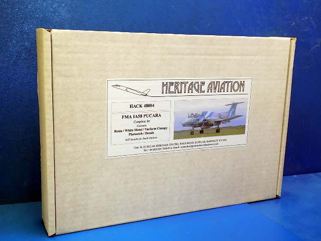 Heritage Aviaton 1/48 48004 FMA IA58 Pucara (Full Resin Kit) Date: 00's