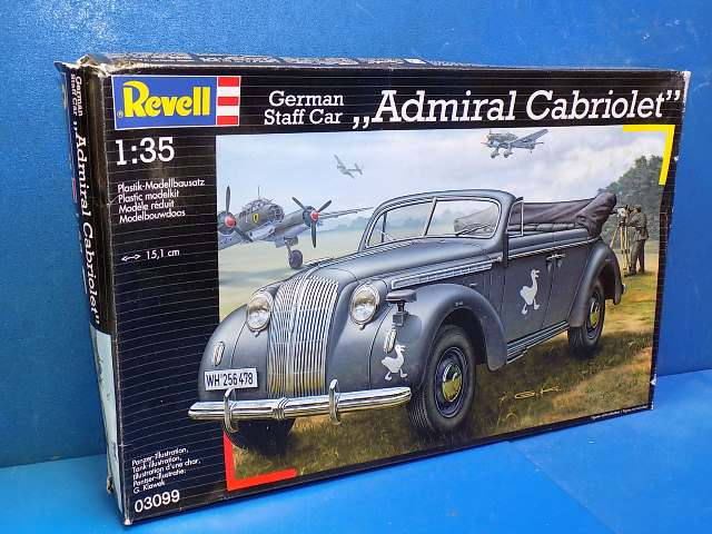 Revell 1/35 3099 Admiral Cabriolet German Staff Car Date: 00's