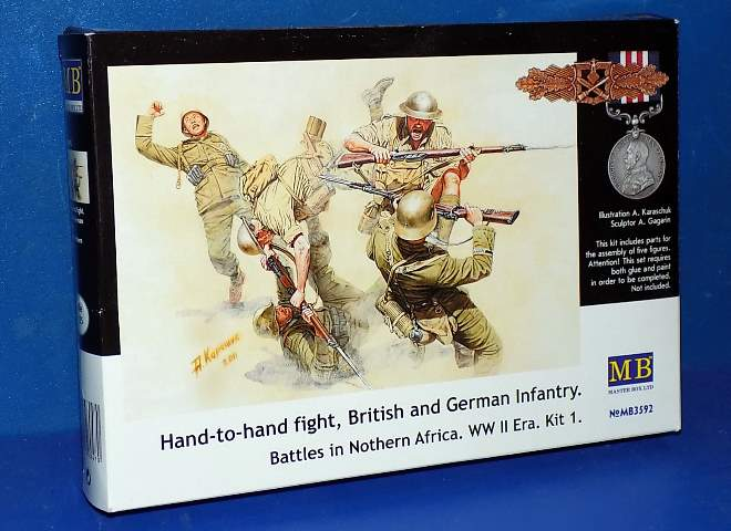 British and German Infantry Hand to Hand Fight