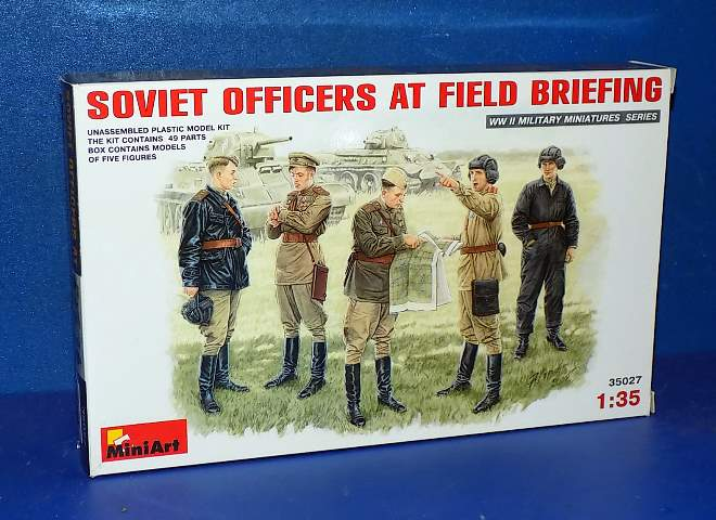 Soviet Officers at Field Briefing