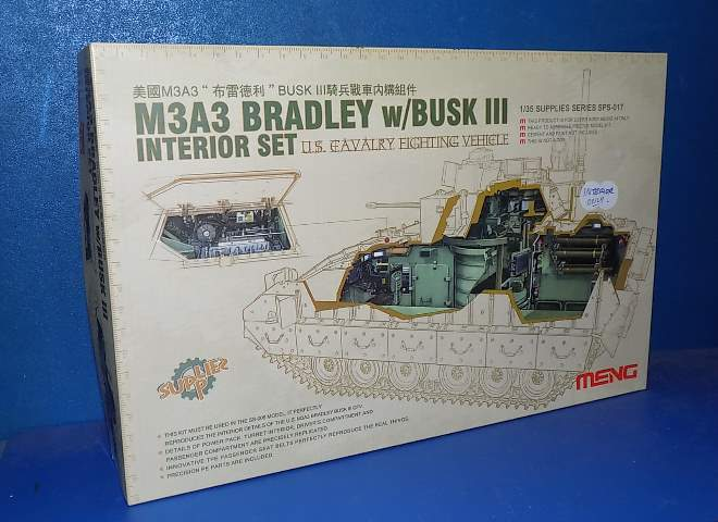 Meng Model M3A3 Bradley Interior Set