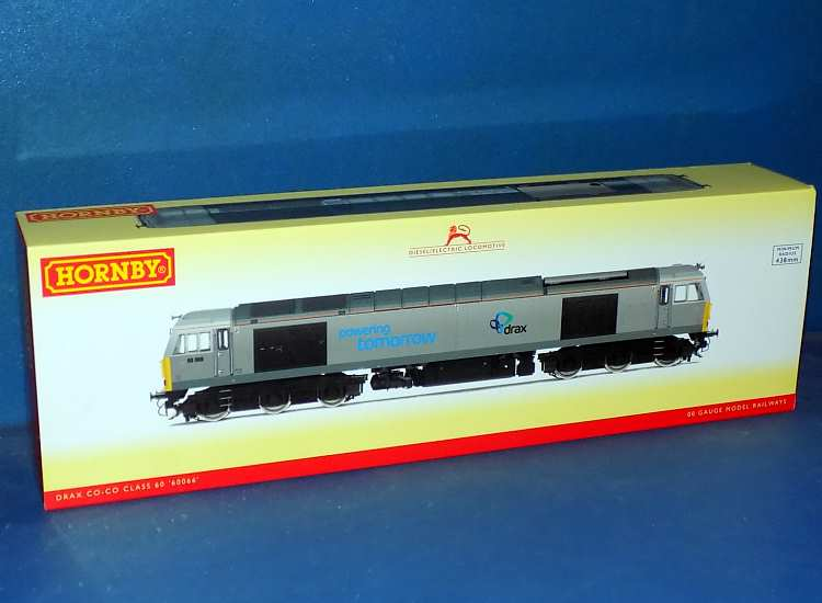 Hornby 00 R3479 Class 60 Drax Co-Co Diesel Electric '60066' Date: 00's