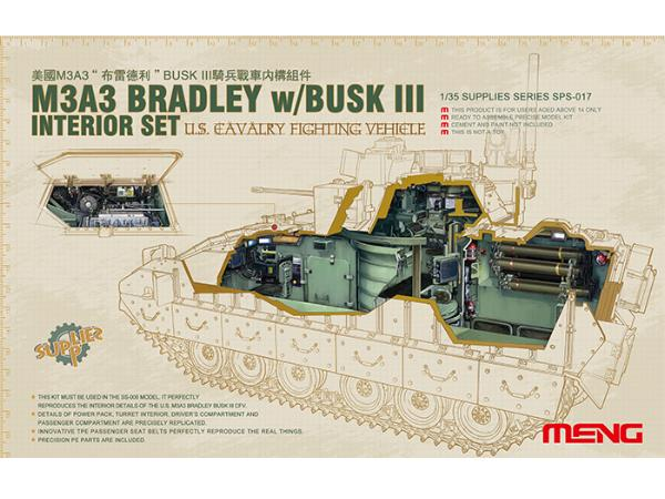 Interior Set for US Cavalry Fighting Vehicle M3A3 Bradley w/Busk III
