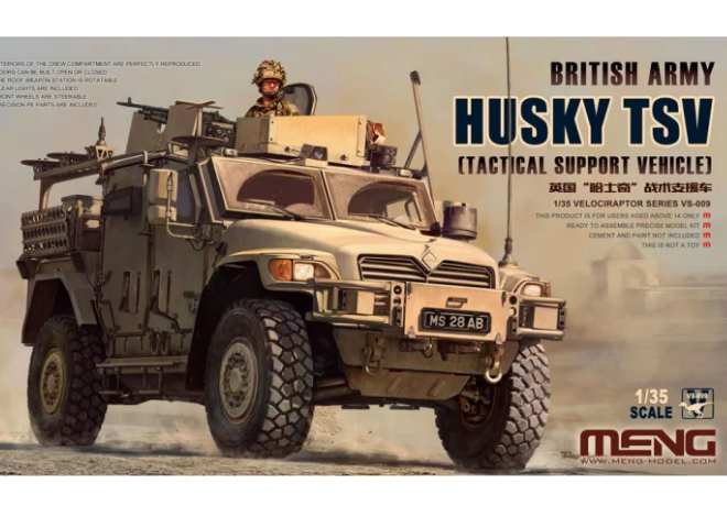 Meng Model 1/35 VS-009 British Army Husky Tactical Support Vehicle