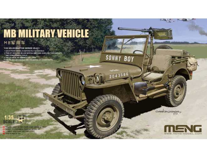 Meng Model US MB Willys Jeep VS-011