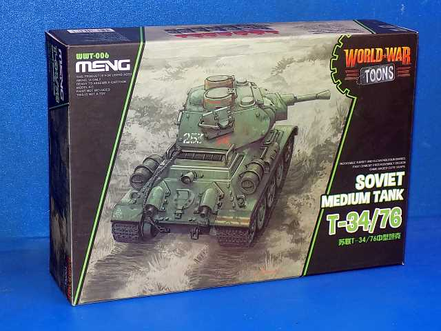 Meng Model na WWT-006 T-34/76 - World War Toon