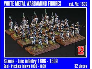 Mirage Hobby 15mm 01505 Saxon Line Infantry 1806-1809 x32