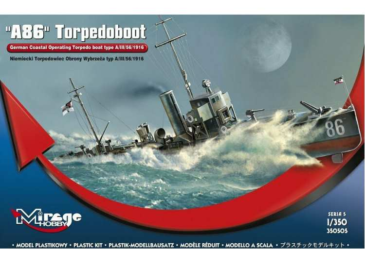 Mirage Hobby A86 German WWI Torpedboat
