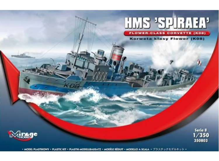 Mirage Hobby HMS Spiraea Flower Class Corvette K08 350803