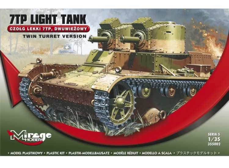 Mirage Hobby 7TP Light Tank - Twin Turret Version 355002