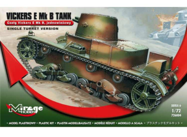 Mirage Hobby Vickers E Mk.B Tank Single Turret 726004