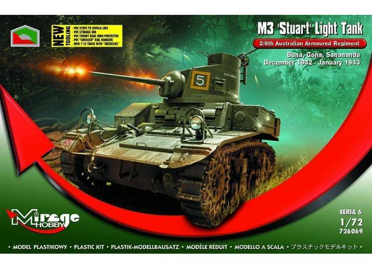 Mirage Hobby M3 Stuart Light Tank 2/6th Australian Armoured Rgmt 726069