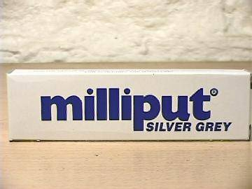 Milliput 113g 802 Silver Grey 2 Part Expoy Putty / Filler