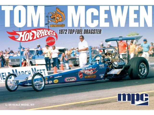 MPC Tom 'Mongoose' McEwen 1972 Rear Engine Dragster - Hot Wheels