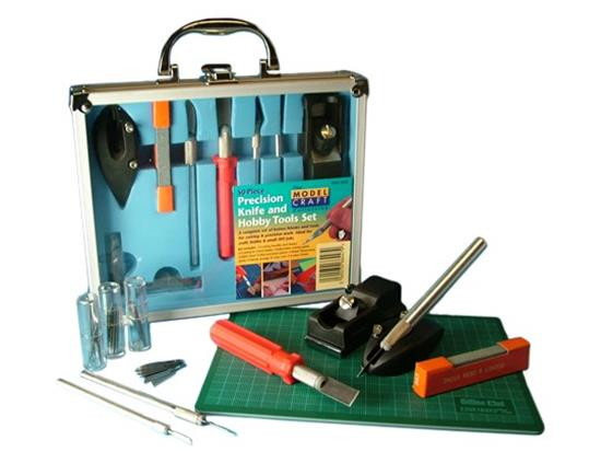 Model Craft - PKN1050CM 50 piece Knife & Tool Set with  A5 Cutting Mat