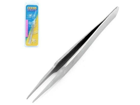 Flat Rounded Stainless Steel Tweezers (120mm) no.2A