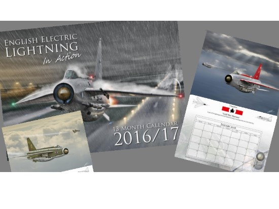MFS na CAL2016 English Electric Lightning In Action Calendar 2016